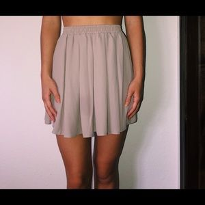 Tan flowy skirt